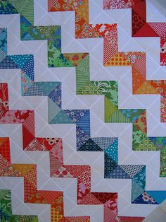 The Front of Zig Zag Quilt