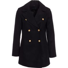Unique 21 Pea Coat (255 SAR) ❤ liked on Polyvore featuring ...