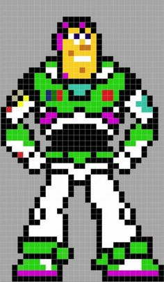 Hama / Perler / fuse beads Buzz Lightyear
