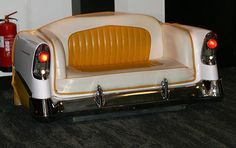 car sofa When Cars are Repurposed as Furniture and Flower Beds Man Cave Furniture, Car Part Furniture, Automotive Furniture, Automotive Decor, Furniture Making, Furniture Usa, Furniture Plans, Luxury Furniture, Upcycled Home Decor