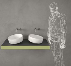 iDesignMe_Inbilico_sink-web http://idesignme.eu/2013/04/lago-bathroom/ #design #bathroom #trends #interiors #LAGO #Sink #line #projects #news