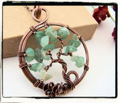 Green Aventurine Sled Tree of Life Pendant by FashionWire, $24.99