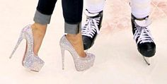 two great things in one pic! Shiny heels and hockey skates??!! Couldn't be more me if there was a pair of tap shoes in it!!