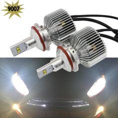 83.60$  Watch now - http://alitn3.worldwells.pw/go.php?t=32754511663 -  2pcs/lot 45W 6000K 4500LM 9007 HB5 LED Headlight bulb hi/lo high low dual beam car upgrade conversion bulb beam kit