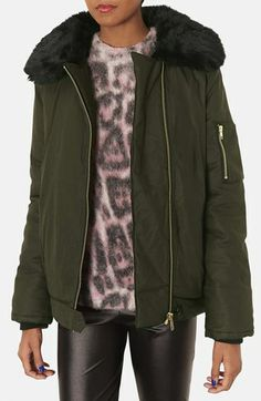 Topshop 'Gabby' Air Force Bomber Jacket available at #Nordstrom