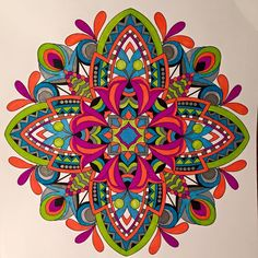 ColorIt Mandalas to Color Volume 1 Colorist: Polly Spilde #adultcoloring #coloringforadults #mandalas #mandalacoloringpages