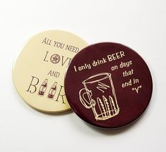 Drink Coasters, Love, Beer, Coasters, Beer Coasters, Beer Lover, Gift for Dad, Stocking Stuffer, Beer Drinker Gift, Humor (5009g)