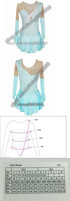 Skating Dresses-Girls 21226: Ice Skating Dress.Competition Turquoise Figure Skating Baton Twirling Costume -> BUY IT NOW ONLY: $99 on eBay!