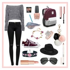 """""""Just Loving the Look"""" by i-love-tennis ❤ liked on Polyvore featuring J Brand, Boohoo, Converse, Les Néréides, Victoria's Secret, Lack of Color, Yves Saint Laurent, OPI, Allurez and Gucci"""