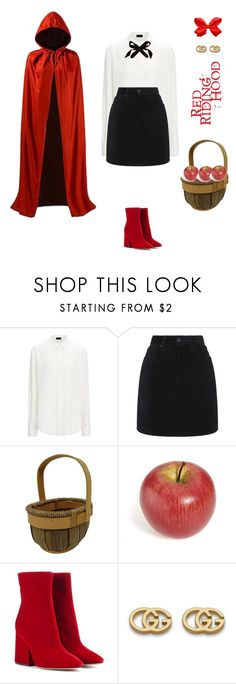 """Red riding hood costume!"" by sebolita ❤ liked on Polyvore featuring Joseph, rag & bone, Masquerade, Maison Margiela, Gucci and Lulu Frost"