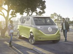 the multifunctional self driving electric campervan combines nostalgic design cues with innovative technology.