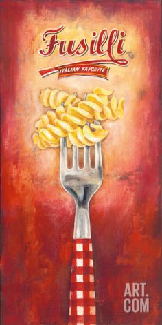 Fusilli Art Print by Elisa Raimondi at Art.com