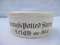 POTTERY MEAT PASTE POT/JAR/BOTTLE YOUNG'S SHRIMPS LEIGH-ON-SEA c1900