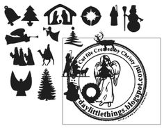 Every Day Little Things!!!!!!: Freebie Free Christmas Silhouettes for Ornaments.....