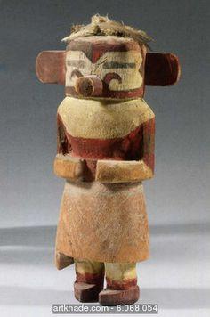 Poupée Kachina Hopi de Muzribi, Arizona, USA