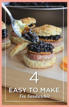 High tea is a classic wedding shower theme. We've got just the four all-star tea sandwiches you should serve.