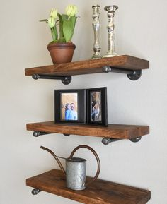 "Urban Industrial Rustic Floating Shelf, 36"" industrial-display-and-wall-shelves"