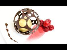How To Make A Chocolate Sphere - Chocolate Decoration-- Esfera de Chocolate - YouTube