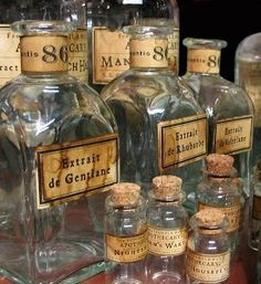 Apothecary bottles and jars