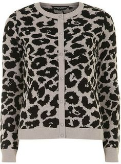 Grey animal print cardigan on shopstyle.com