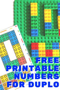Free printable number mats for LEGO Duplo blocks. Perfect for counting to 10 Kindergarten Math Activities, Educational Activities For Kids, Preschool Learning, Learning Activities, Stem Learning, Toddler Learning, Stem Activities, Early Learning, Free Printable Numbers