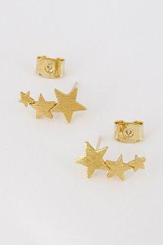 Star Crawler Stud Earrings