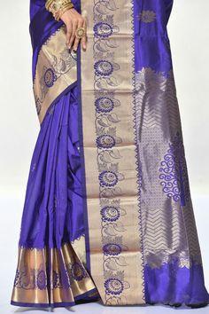 Latest Silk Sarees, Pure Silk Sarees, Katan Saree, Bridal Sarees, Indian Beauty Saree, Indian Attire, Indian Designer Wear, Saree Collection, Draping