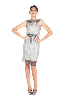 Gingham Printed Sheath Dress