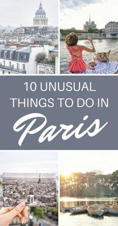 10 Unusual Things to do in Paris That Don't Involve the Eiffel Tower! 10 Unusual Things to do in Paris That Don't Involve the Eiffel Tower! Here are some ideas to experience Paris off the beaten path. Paris Travel Guide, Europe Travel Tips, Places To Travel, Travel Destinations, Places To Go, Paris Tips, Paris France, Paris 3, European Vacation