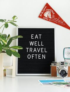 Vintage felt message boards are making a comeback in a huge way, but rather than displaying daily diner specials as in decades past, you'll likely find them styled as interior accessories or on your favorite blogger's Instagram feed, always sporting a clever message, of course