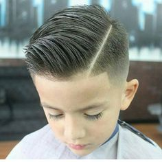 slick haircut with a quiff More