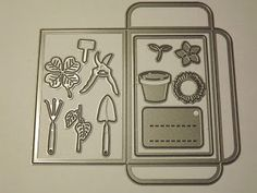 Marianne Design Seed pocket and Garden tools Craftables CR1395