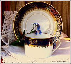 Exquisite cup and saucer duo great example of by PoshandSeductive