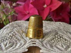 Vintage Brass Thimble Daisy Pattern by cynthiasattic on Etsy, $23.00