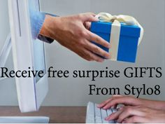 Recieve surprising gifts on every purchase you made at Stylo8.com