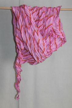 cocon.commerz PRIVATSACHEN Gecrashtes Vierecktuch mit Streifen aus Seide in rosa   eBay
