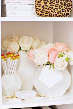 dwell studio faceted white vases