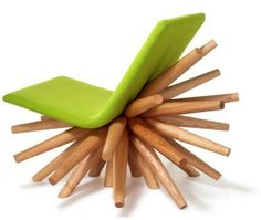 The burst chair by Oliver Tilbury