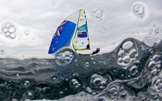 Weymouth, England: New Zealand's Peter Burling and Blair Tuke sail before the fifth race of the men's 49er sailing class at the London 2012 Olympics