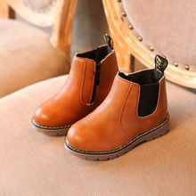 Children Boys Girls Martin Boots Kids Plus Velvet Leather Chelsea Snow Flat Shoe Wholesale Baby Clothes, Cheap Baby Clothes, Toddler Shoes, Boys Shoes, Chelsea Shoes, Martin Shoes, Black Heels Low, Grey Boots, Ankle Boots