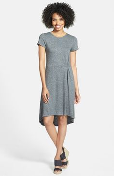 Halogen®+French+Terry+Short+Sleeve+Dress+(Regular+&+Petite)+available+at+#Nordstrom