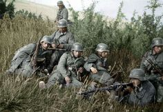 Wehrmacht soldiers in France, 1940.