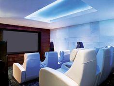 Original Art Deco theater seats set the theme for this cinema.