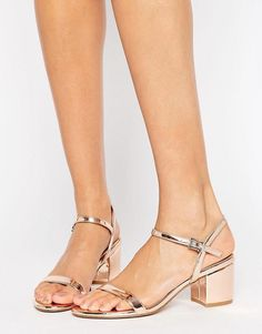 Buy ASOS HONEYCOMB Heeled Sandals at ASOS. Get the latest trends with ASOS now. Nude Shoes, Low Heel Shoes, Low Heels, Shoes Heels, Strap Heels, Ankle Strap, Asos, Women's Feet, Dress Sandals