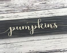 handmade wood signs & home decor by SignsbyJen on Etsy Thanksgiving Signs, Wood Signs Home Decor, Etsy Seller, Unique Jewelry, Creative, Handmade Gifts, Fall, Kid Craft Gifts, Autumn