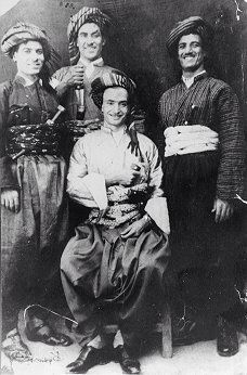 Jews from Kurdistan.  Nothern Iraq, late-Ottoman era, ca. 1900.