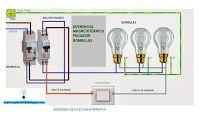 Esquemas eléctricos: Encendido de luces con interruptor #esquemas #electricidad #esquemaselectricos #diagrams #2016