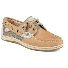 Sperry Women's Adjustable Leather Loafers ($90) ❤ liked on Polyvore featuring shoes, loafers, linen oatmeal, slip on shoes, laced up shoes, loafers moccasins, lace up loafers and slip-on shoes