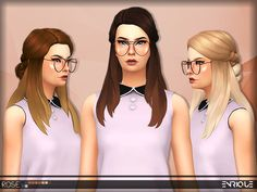 Sims 4 CC's - The Best: Rose Hair by Enrique