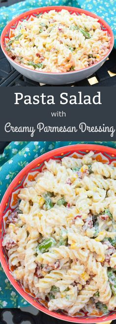 Pasta Salad with Creamy Parmesan Dressing